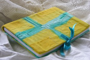 Teal and Yellow A5 Journal Cover