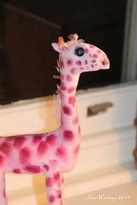 Pink Giraffe close up