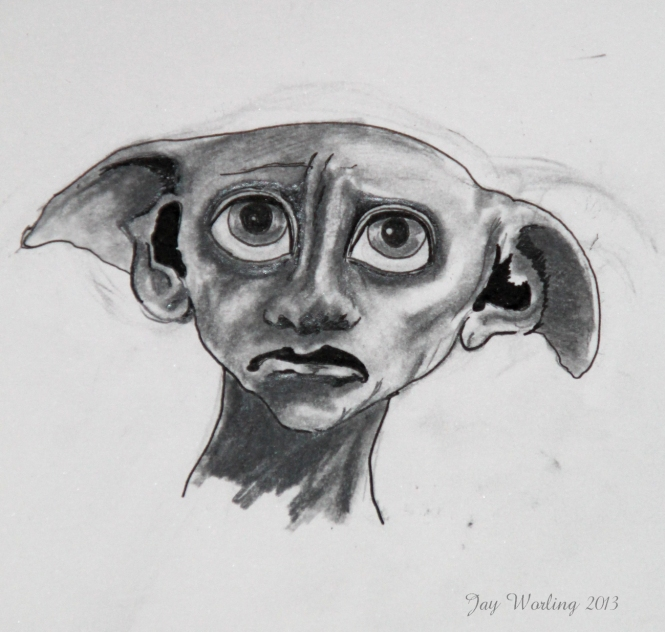 My sketch of Dobbie from Harry Potter and the chamber of secrets