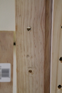"""""""peg"""" or shelf holes in the  main frame pieces"""